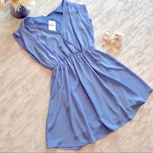 NWT Lush Brand Baby Blue Flare Dress Size Small